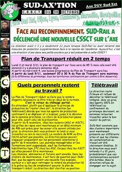 SUD AX'TION CSSCT du 30 Octobre