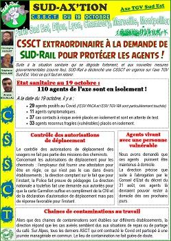 SUD AX'TION : CSSCT Extra du 19 octobre 2020 à la demande de SUD-Rail