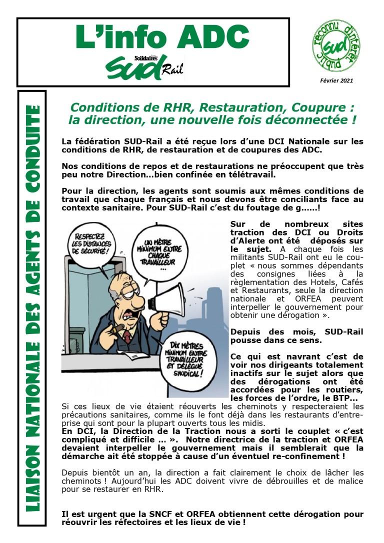 Conditions de restauration, RHR, coupures : La direction est deconnectée !