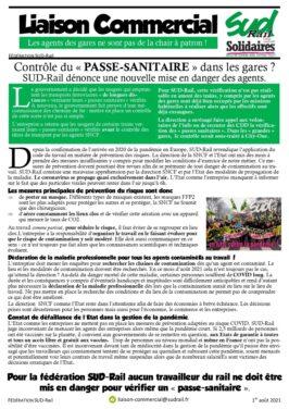 Contrôle du Pass sanitaire dans les gares : SUD-Rail dénonce une nouvelle mise en danger des agents