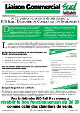 Pannes récurentes au 36-35 : SUD-Rail pose une DCI