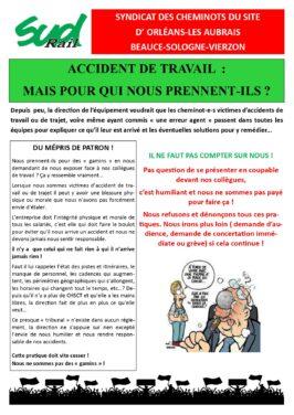 ACCIDENTS DU TRAVAIL : Mais pour qui nous prennent-ils ?
