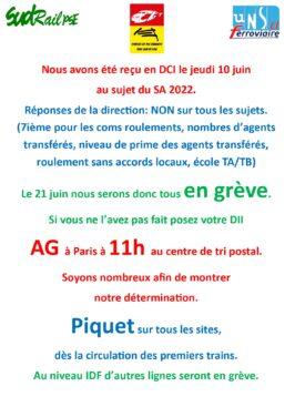 1ere affiche de Grève le 21 juin