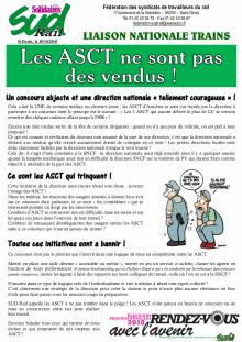 Les ASCT ne sont pas des vendus
