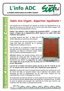 LN ADC : Cadre avis urgent, panto Régio2N