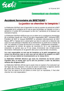 Accident ferroviaire de BRETIGNY : La justice va chercher le lampiste !