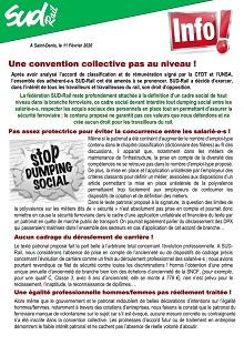 Une convention collective pas au niveau !