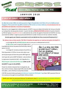 EIC : Compte rendu CHSCT – Janvier 2018