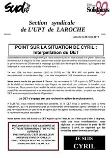 UP Laroche : Point sur la situation de Cyril