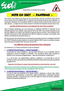 "Note CN-SSCT : ""Pandémie"""