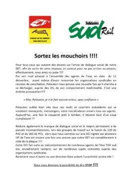 Réponse au DET de l'Etablissement Traction TGV Sud-Est
