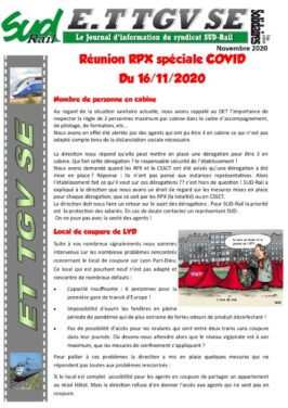 ET TGV SE : RPX spécial Covid