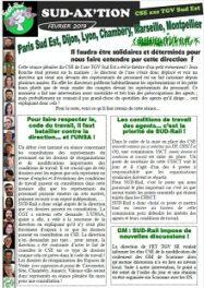 CSE TGV SE : Solidaires et déterminés pour nous faire entendre…