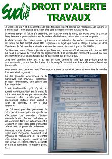 Lieusaint – Droit d'alerte travaux