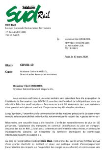 Covid-19 : Droit d'alerte déposé chez Newrest Wagons-lits