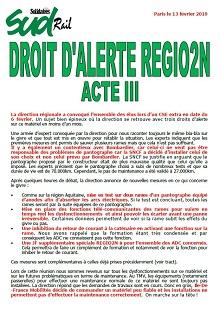 Droit d'alerte Régio2N – Acte III