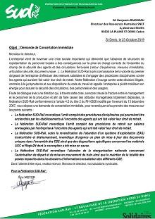 EAS : Demande de concertation immédiate