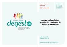 Analyse du cabinet d'expertise Degest sur la politique sociale, les conditions de travail et d'emploi des cheminots du CSE TN D&R