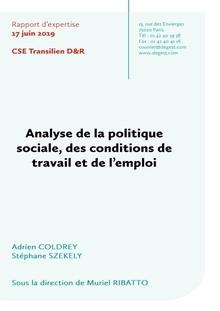 CSE Transilien : Analyse de la politique sociale, des conditions de travail et de l'emploi