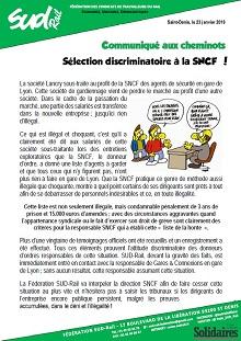 Sélection discriminatoire à la SNCF !