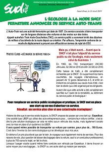 L'écologie à la mode SNCF : Fermeture annoncée du service auto-trains