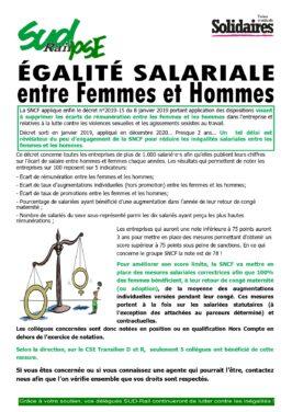 Egalité salariale entre hommes et femmes à la SNCF