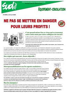 Covid 19 : Ne pas se mettre en danger pour leurs profits