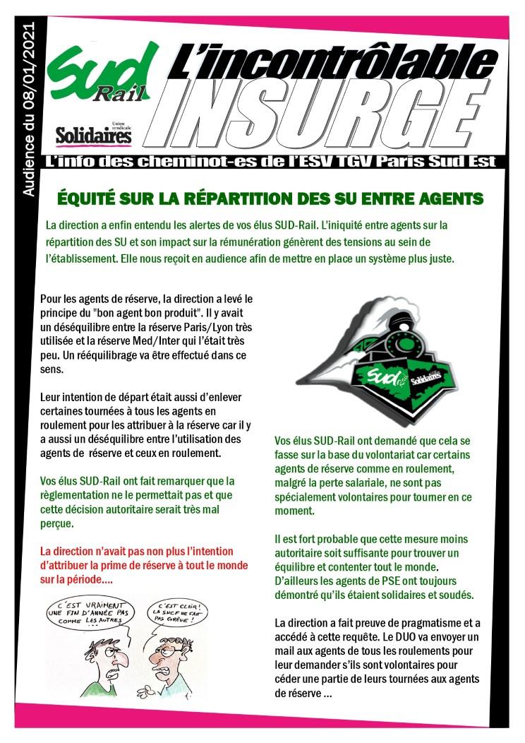 l'incontrôlable insurgé : équité sur la répartition des s.u