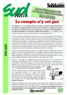 Agence Essai Ferroviaire : Journal d'infos n°18