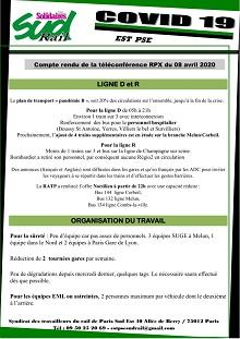 Covid-19 : EST PSE – Téléconférence du 08 avril 2020