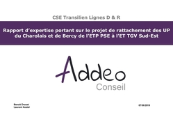 Rapport d'expertise portant sur le projet de rattachement des UP du Charolais et de Bercy de l'ETP PSE à l'ET TGV Sud-Est