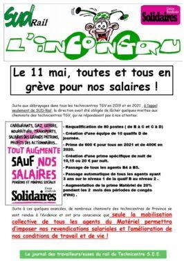 Le 11 mai, toutes et tous en grève pour nos salaires !