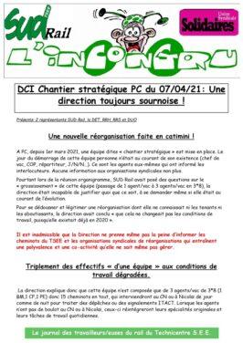 Chantier stratégique PC du 07/04/21: Une direction toujours plus sournoise !