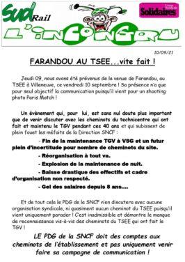 Farandou au TSEE… Mais vite fait !