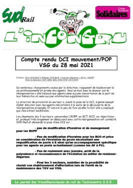 DCI Mouvement / POP VSG du 28 mai