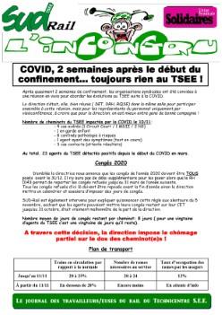 L'Incongru :COVID, 2 semaines après le début du confinement… toujours rien au TSEE !