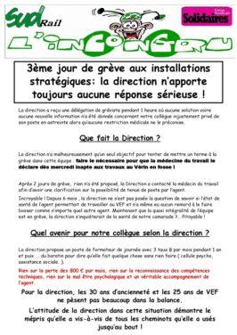 3ème jour de grève aux installations stratégiques: la direction N'apporte toujours aucune réponse sérieuse !