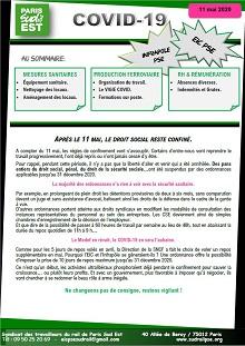 Covid-19 : Tract EIC et IP PSE du 11 mai 2020