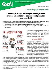 Lanceur d'alerte réintégré par la justice, une victoire contre la répression !!