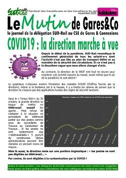 Le Mutin de Gares&co COVID 19 : La direction marche à vue