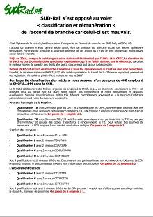 SUD-Rail s'est opposé au volet « classification et rémunération »