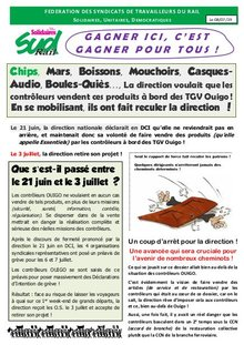 TGV Ouigo, gagner ici, c'est gagner pour tous !
