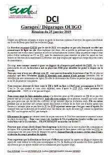 DCI garages-dégarages Ouigo