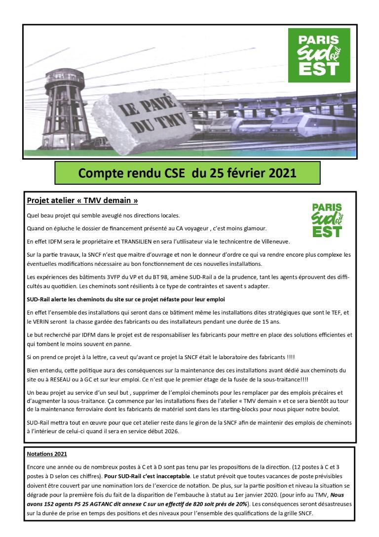 CSE du 25-01-2021