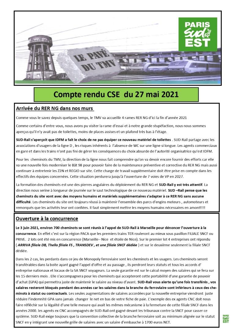 CSE du 27 Mai 2021