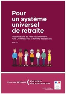 Pour un système universel de retraite – Préconisations de Jean-Paul Delevoye