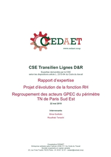 Regroupement des acteurs GPEC du périmètre TN de Paris Sud Est