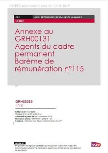 RH00389 – Barème de rémunération n°113