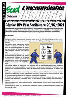 Réunion RPX pass Sanitaire du 26-07-2021