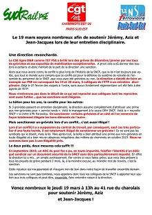 Le 19 mars, soutiens à Jérémy, Aziz et Jean-Jacques